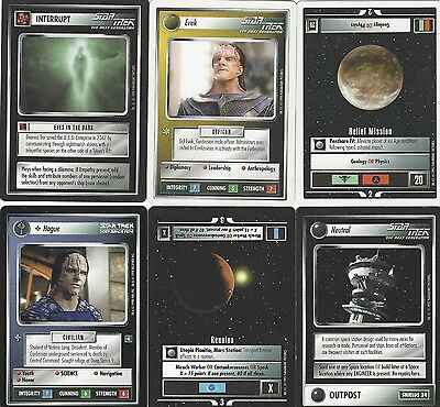 6 cards Star Trek Customizable Card Game CCG - genau die auf dem Scan 4