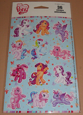 MY LITTLE PONY STICKERS - NEW! 2010 Hasbro 36 Stickers 3 Sheets Packet 3G Blue