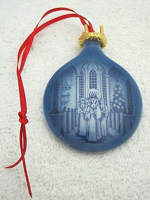 1991 Royal Copenhagen Christmas Ornament  Lucia Girls w Candles 2 3/8 In SHP
