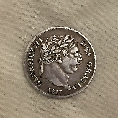 King George iii fourpence maundy 4p silver coin 1817 four penny 3rd