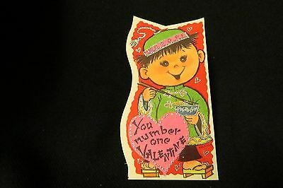 Vintage CHINESE Chopstick Valentine Card c. 1960s UNUSED UNSIGNED