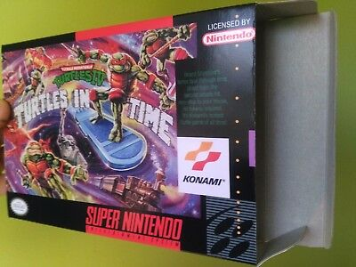 TMNT IV: Turtles in Time Box Only, SNES Nintendo Replacement Box/Art Case !!