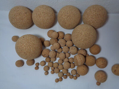 Natural Cork Floating Pop Balls Coarse Fishing Universal Accessories 10 30 70mm