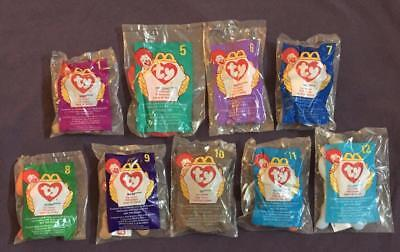 Lot Of 9 Mcdonalds Toys Beanie Babies 1998 New In Original Packaging