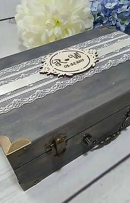Rustic Wedding Card Box With Cards Banner Wedding Envelope Box Wedding Money box