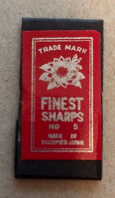 Vintage Unopened Pack of Sewing Needles Made in Occupied Japan