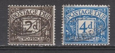 Great Britain postage due Michel nr 58 + 60 used 1959 MUCH MORE ENGLAND STAMPS