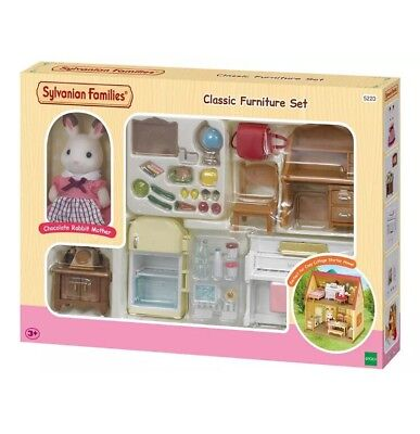 Sylvanian Families Classic Furniture Set Cosy Cottage Starter Fridge Piano