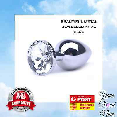 Metal Jeweled Butt Anal Plug Stainless Steel Small Size Tulip Sex Toy