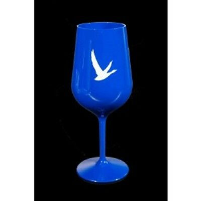 Grey Goose Vodka Blue Acrylic Goblet Drinking Glass X12 Long Stem FREE SHIPPING