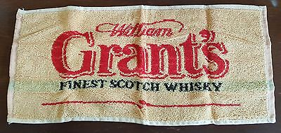 Grant's Scotch Whisky Bar Towel Nos