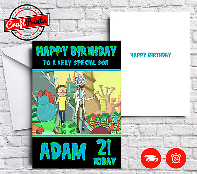 Rick and Morty Personalised Birthday Card