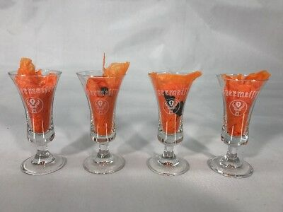 Jagermeister Collectible Footed Stem Shot Glasses 2 oz set of 4