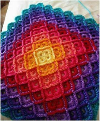 Knitting Kit- Bavarian Crochet Knee rug with yarn and pattern