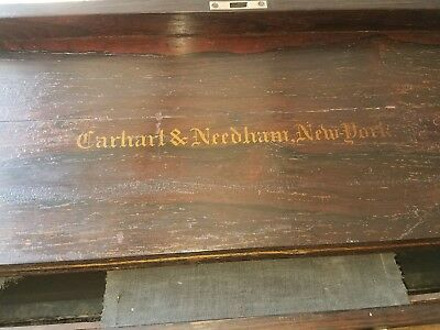 Carhart & Needham Melodeon Portable Rosewood Organ For Restoration Beautiful