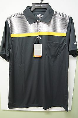 Mens Sporte Leisure Bowls Shirt with Pocket - Charcoal