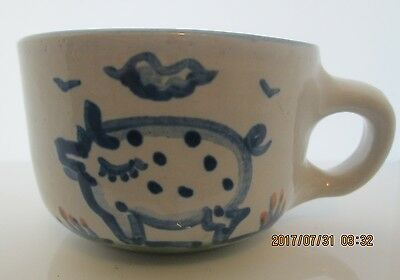 """M.A. Hadley Pottery COW Coffee or Tea Cup 3 1/2"""""""
