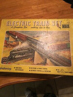 electric train set by marx
