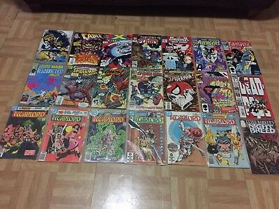 Marvel/dc Comics W/ Spider-Man, Deadpool, Venom And More 20+