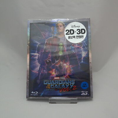 Guardians Of The Galaxy Vol. 2 (2017, Blu-ray) Slip Case Edition / 2D + 3D Combo