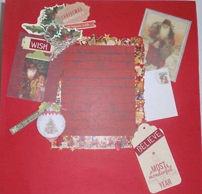 Handmade Scrapbook page - Christmas Memories