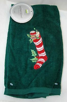Older Martha Stewart Christmas Towel MWT w Red Christmas Stocking Plush   T45