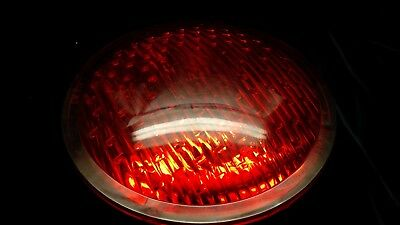 "Vintage Safetran 8 3/8"" Railroad Crossing Traffic Red Lens Light No 040405-45"