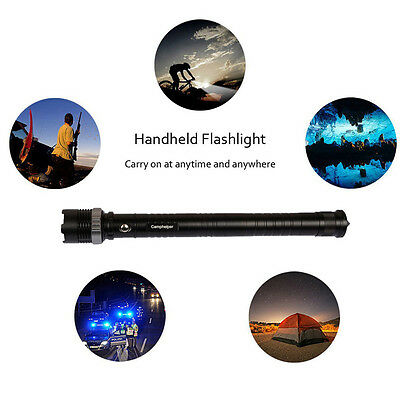 Waterproof Led Tactical Flashlight With Handy Survival Rescue Emergency light EA