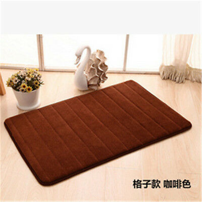 Memory Foam Washable Mat Bedroom Floor Pad Non-slip Bath Rug Mat Door Carpet EA