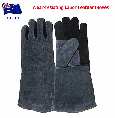 High Temperature Welding Wear-resisting Labor Leather Gloves Safety Comfort EA