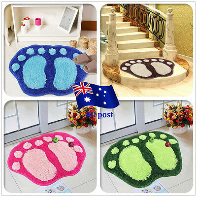 Cute Anti-slip Big Feet Absorbent Bathroom Mats Door Carpet Footprints Rugs EA
