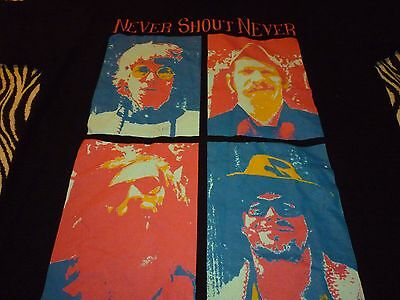Never Shout Never Tour Shirt ( Used Size L ) Very Nice Condition!!!