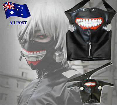 Cosplay Tokyo Ghoul Kaneki Ken Adjustable Zipper Belt Mask Halloween Party EA