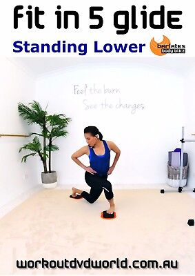 Gliding Disc EXERCISE DVD - Barlates Body Blitz FIT IN 5 GLIDE STANDING LOWER!