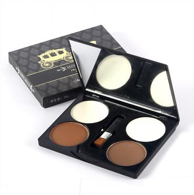 Fashion 4 Colour Contour Highlighting Bronzer Pressed Powder Make Up Palette G72
