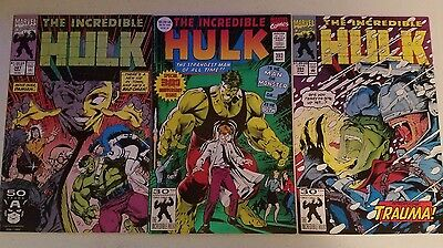 Marvel The Incredible Hulk comic lot of 3! Issues 387 , 393 , and 394