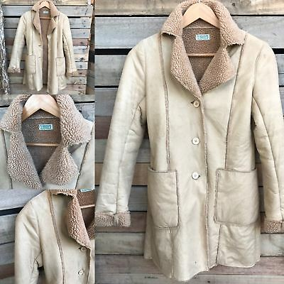 Vintage Sherpa/Suede Jacket // Size Small