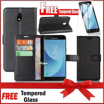 Wallet Leather Flip Case Cover Samsung Galaxy J2 J5 J7 Pro + FREE TEMPERED GLASS