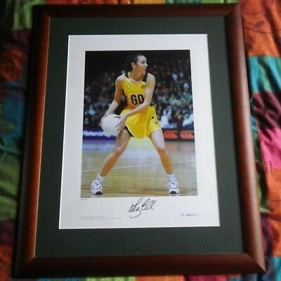 Liz Ellis framed signed limited edition print certif of authenticity netball