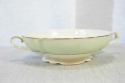 J&G Meakin SOL double handled footed Casserole / Bowl, green band, 391413 EXC!