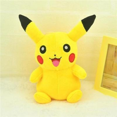 "6"" Pokemon Pikachu Plush Soft Toy Stuffed Animal Cuddly Doll Kids XMAS GIFT New"