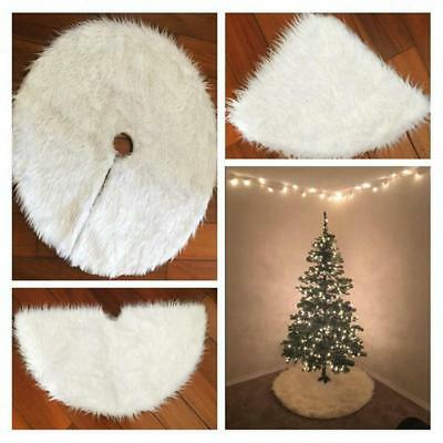 Fur Tree Skirts Christmas Tree White Cotton Skirt Home Party Carpet Decorations