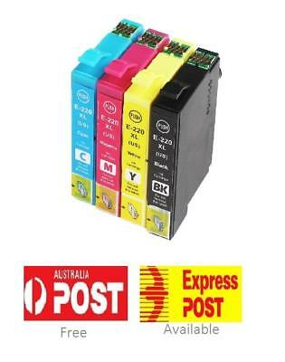 4x Compatible for Epson 220XL 220 XL Ink Cartridge Workforce WF-2760 WF-2750