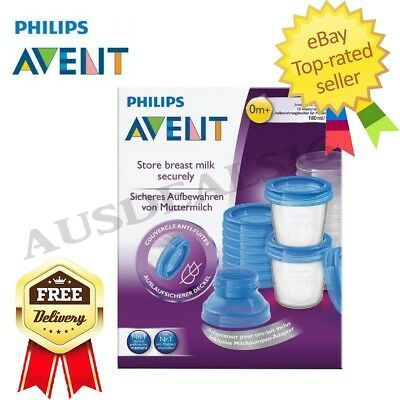 New Baby Toddler Children Avent Via Breast Milk Storage Containers 180ml x 10