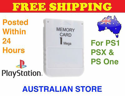 New 1MB Memory Card Save Blocks Sony Playstation 1 PS1 PS One PSX Console