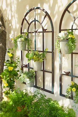 PROVINCIAL FRENCH arched orangerie wall planter decor art  BLACK NEW 1.20m