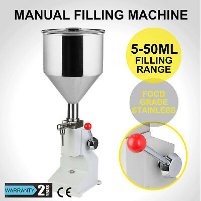 5-50ML Manual Liquid Filling Machine filler  A03 COSMETIC 40 BOTTLES/MIN