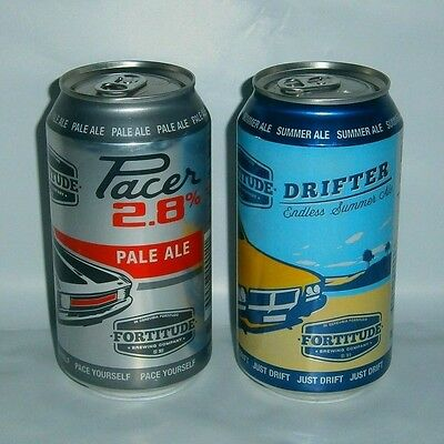 Fortitude Brewing Co limited edition cans pair Drifter & Pacer ideal collector