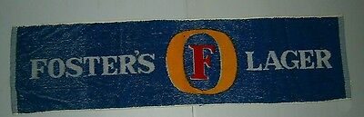 Fosters Lager Beer genuine original bar drink terry towel runner, approx 97x26cm