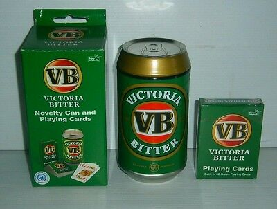 VB Victoria Bitter Beer new metal tin novelty can and sealed deck playing cards